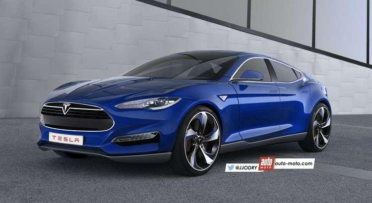 Вариант внешности Tesla Model 3