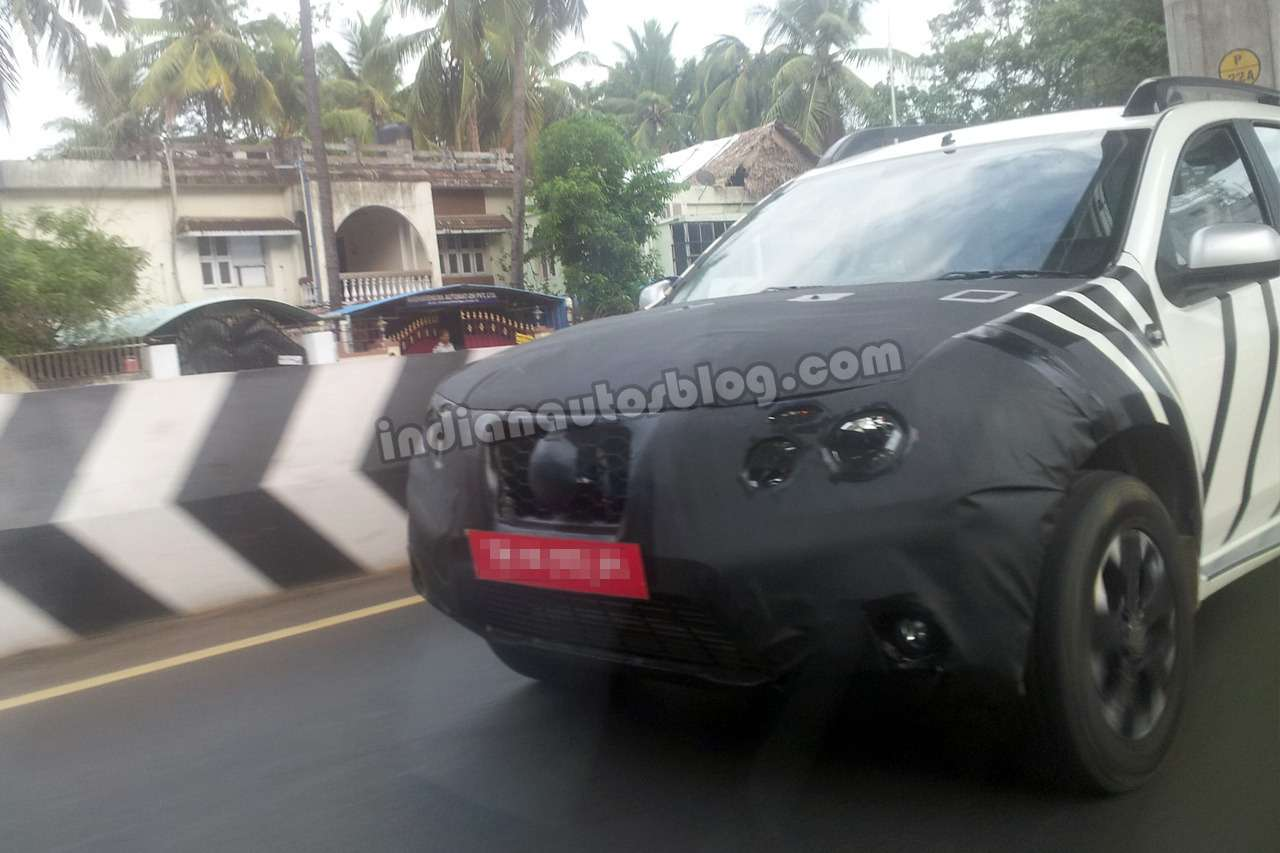 Nissan Terrano front end camouflaged nocopyright