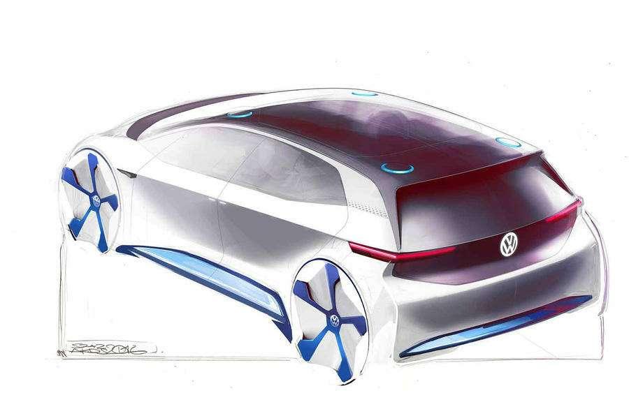 VWпоказал скетчи нового электрокара— фото 638655