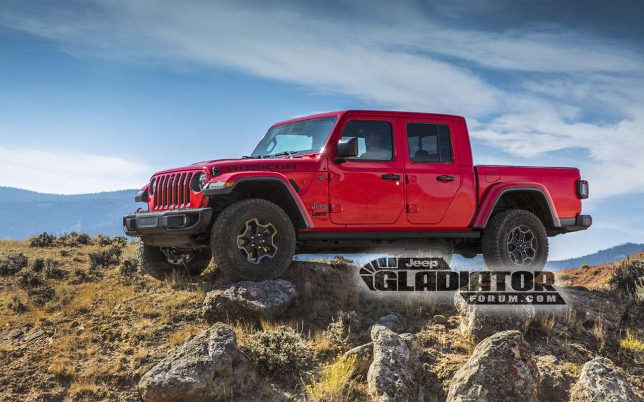 Рассекречен облик ихарактеристики пикапа Jeep Gladiator— фото 923080