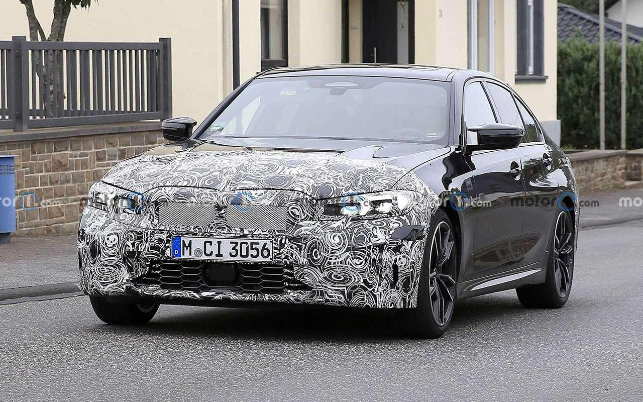 BMWтестирует обновленный седан 3-й серии— фото 1278209