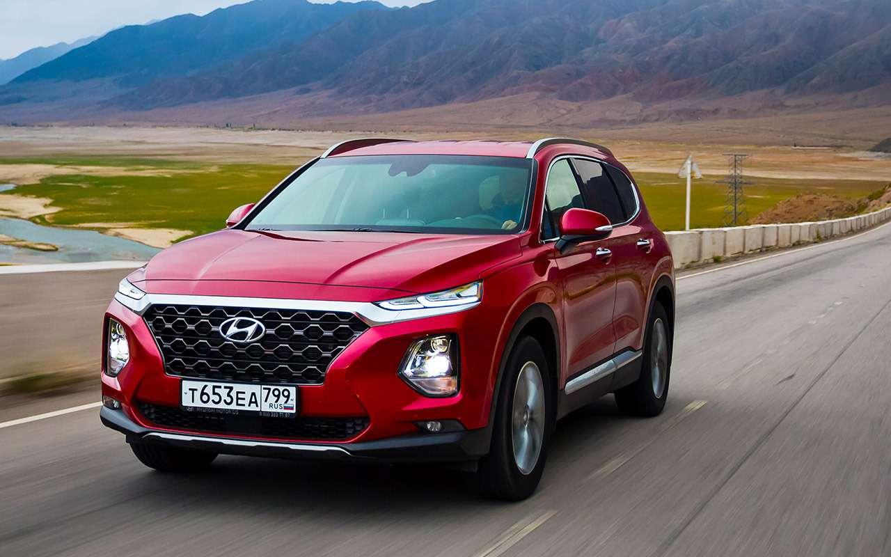 Тест нового Hyundai Santa Feскрутым автопилотом— фото 920449