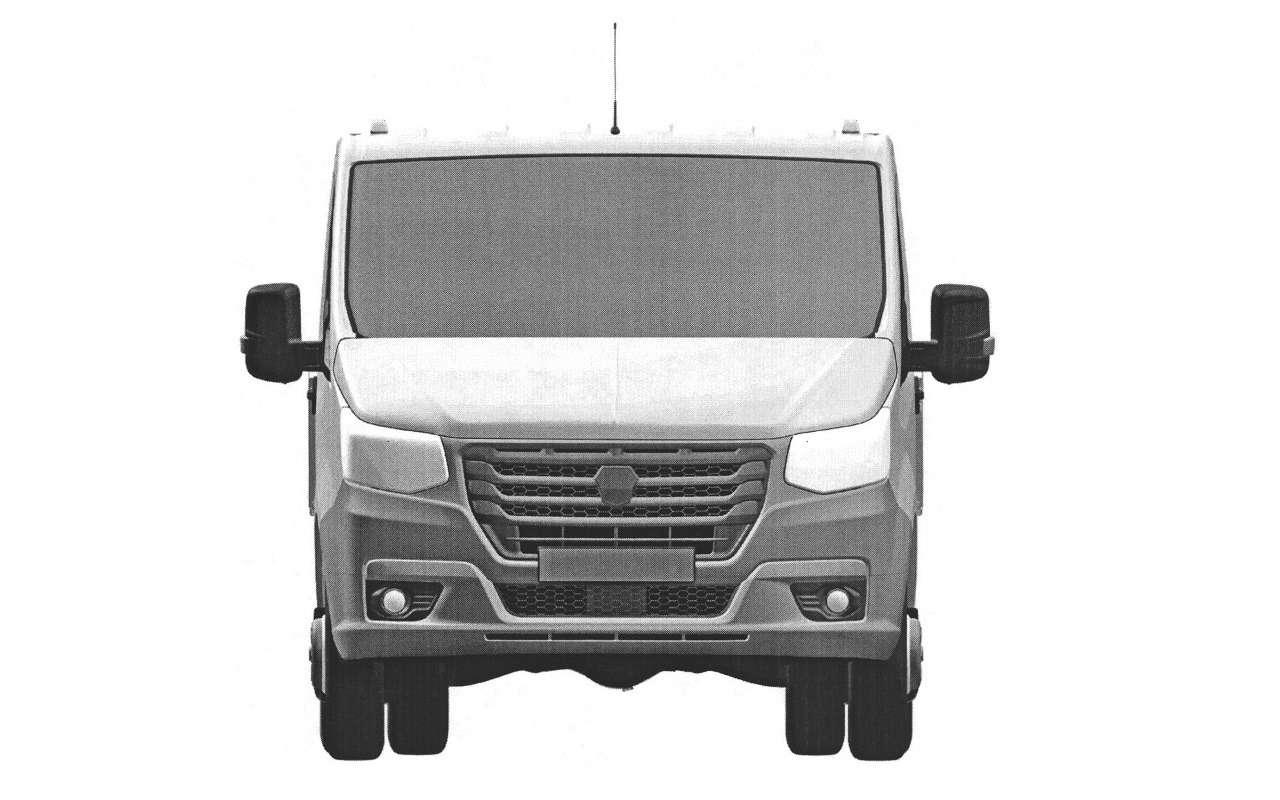 ГАЗзапатентовал внешность новой грузовой ГАЗели— фото 1125668
