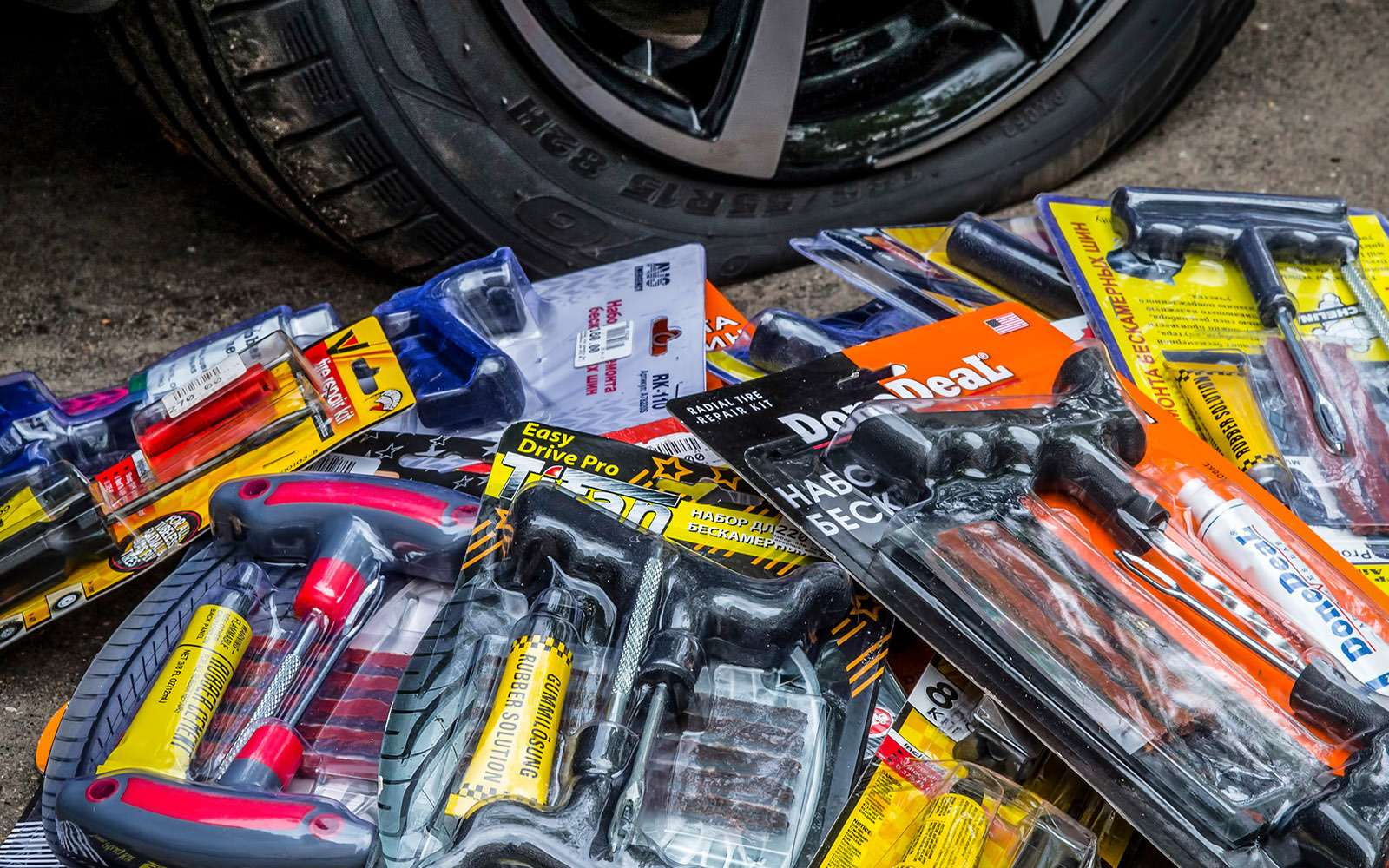 Ремонтируем проколотую шину—  тест 16ремкомплектов исоветы ЗР— фото 771821
