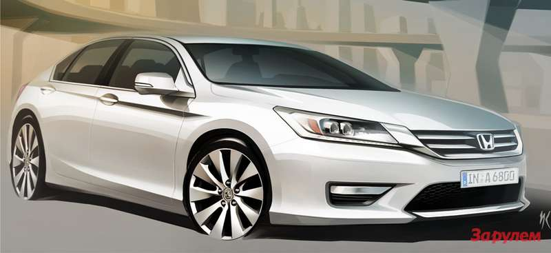 New Honda Accord side-front view