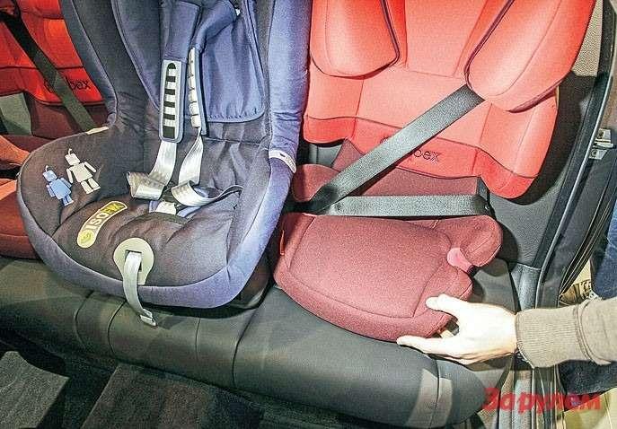 БМВ5-й серии. Рельефные сиденья обеспечивают отличную поддержку длявзрослых. Нодлятрех детей негодятся.