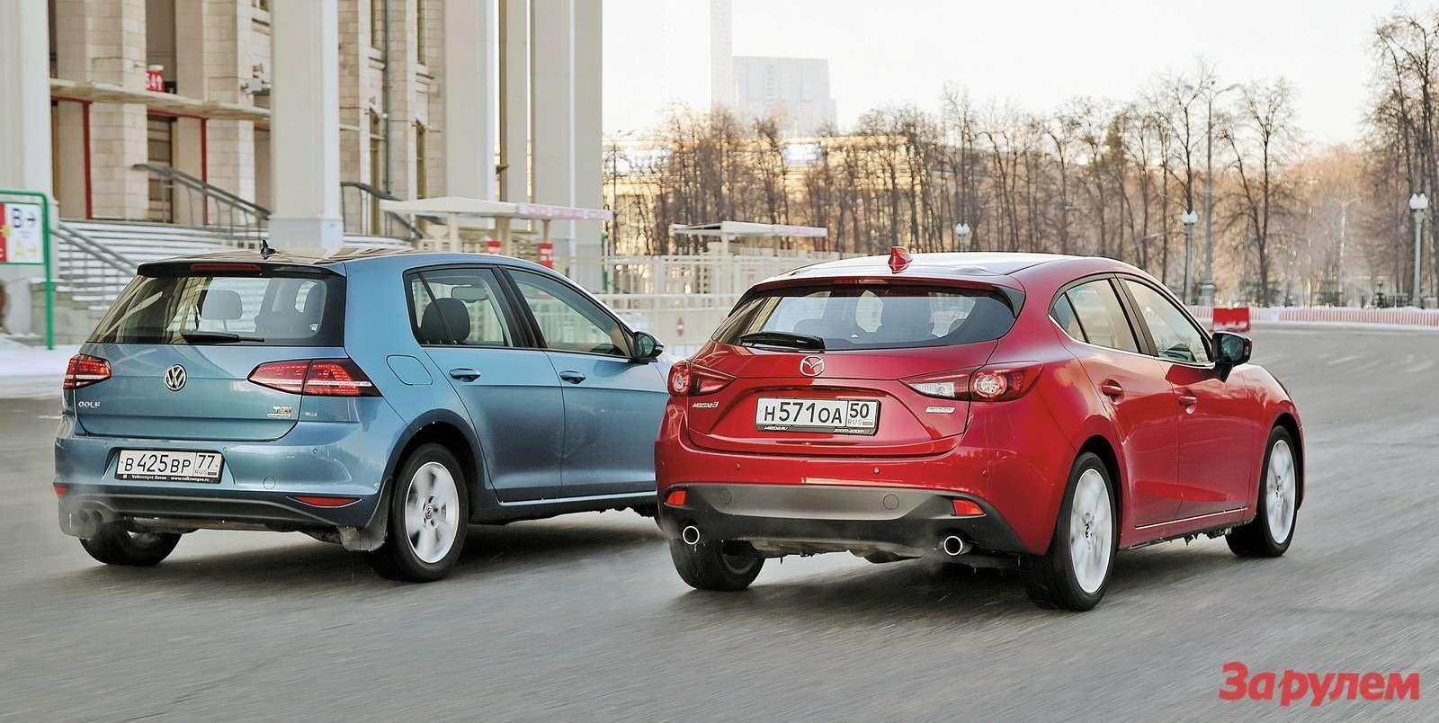 Mazda3и VWGolf