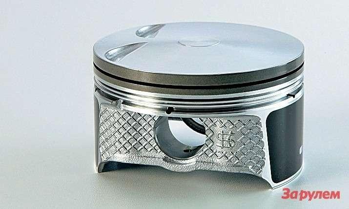 Поршень двигателя «Скайэктив-G» нетолько на20% легче аналогичной детали длянынешнего 2-литрового мотора, ноивыделяется оригинальной формой днища, которая позволяет горению равномерно распределяться повсей камере сгорания.