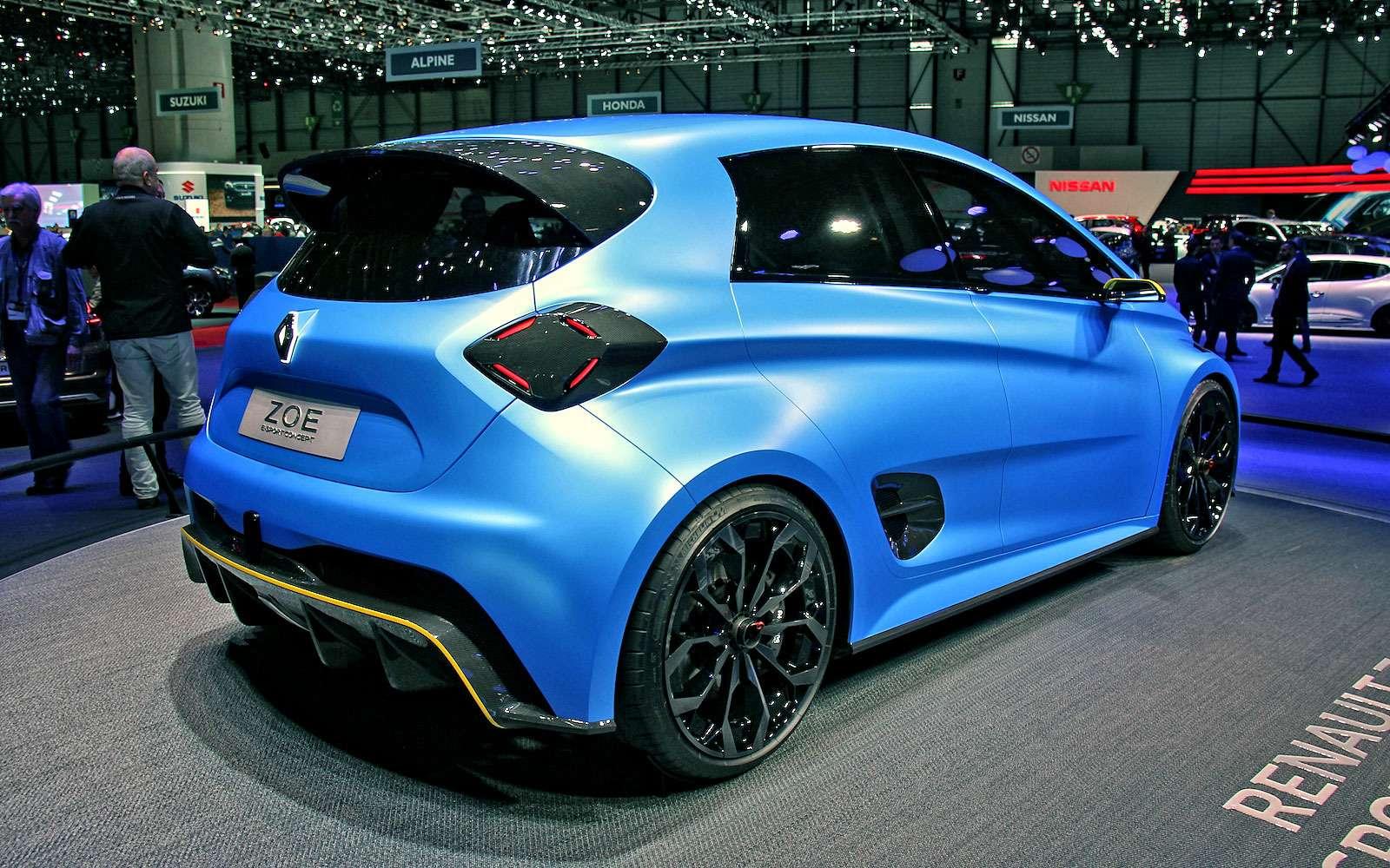 Зверо-Зоя: Renault превратила электрический хэтчбек вгоночного монстра— фото 718400