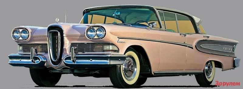 Бывает, невезет совсем ивовсем,— это как раз про автомобили «Эдсел». Нафото модель «Рейнджер» 1958 года.