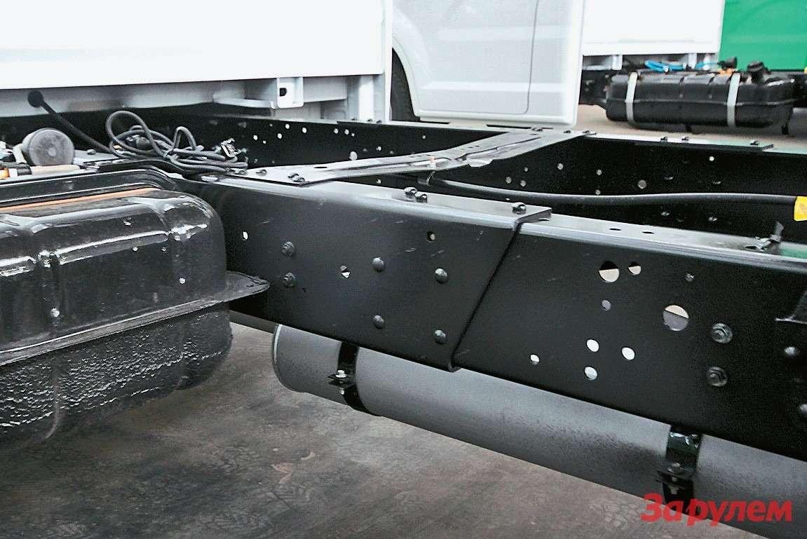 Раму подудлиненную колесную базу будут, как ипрежде,  резать инаращивать швелерами... Интересно— как долго?
