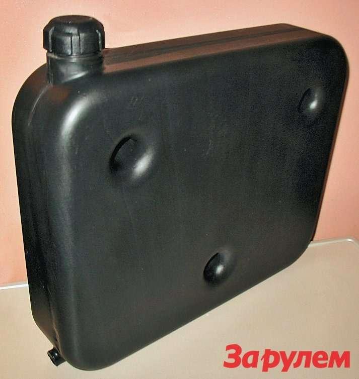 В комплекте кржевскому отопителю идет отдельный топливный бачок
