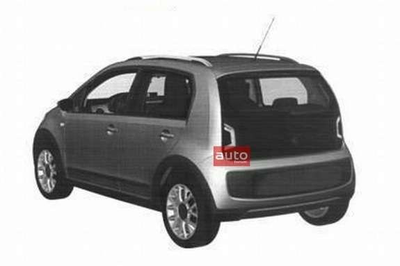 Five-door Volkswagen up! side-rear view