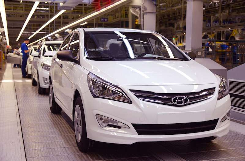 Hyundai Solaris конвейер