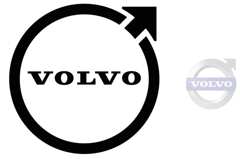У Volvo новый логотип— да, онплоский