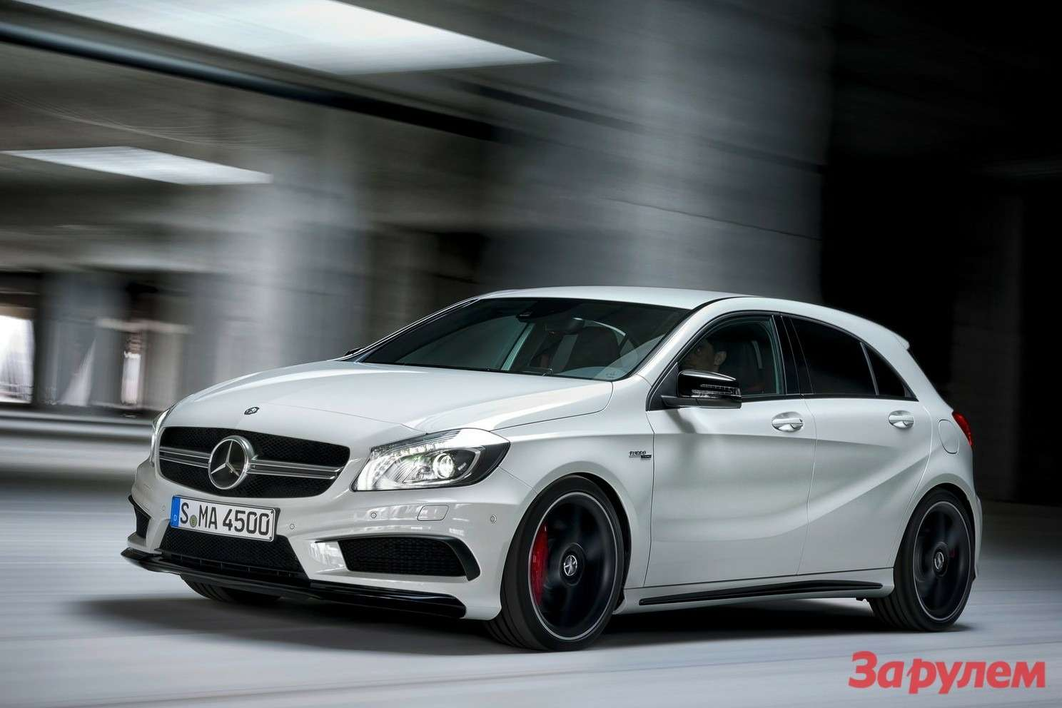 Mercedes-Benz A45AMG side-front view