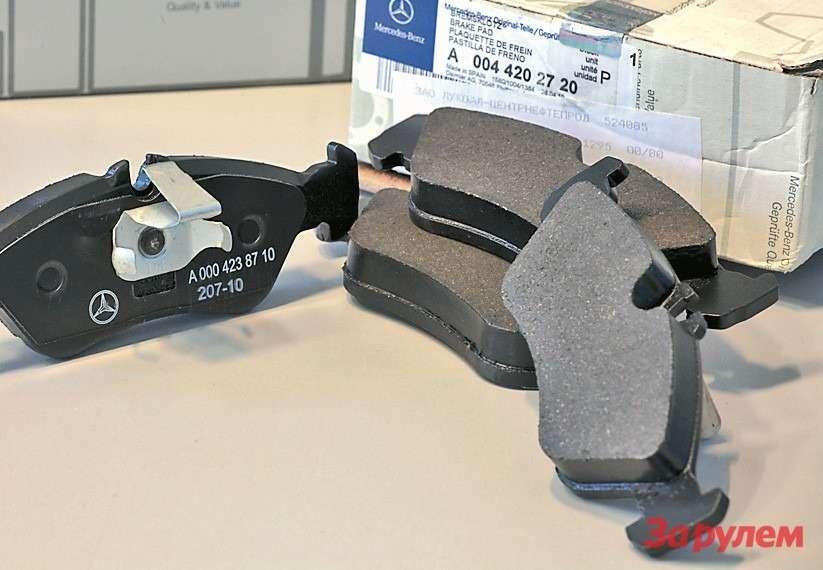 Оригинальные тормозные колодки A0044205520от фирмы Jurid