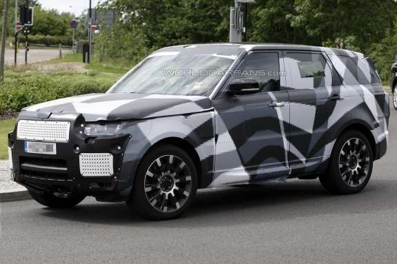Next Land Rover Range Rover Sport test prototype side-front view