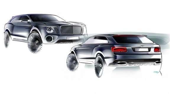 Bentley EXP 9F Concept design sketches