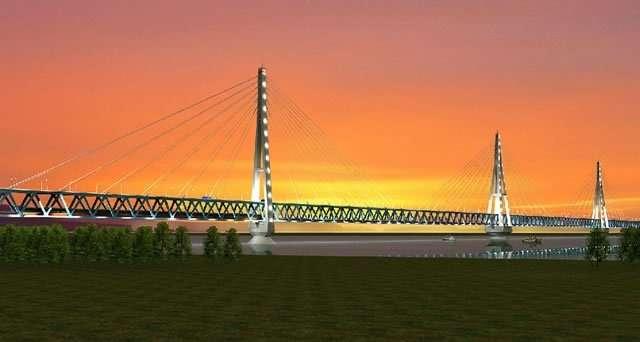 Мост через Лену в Якутске