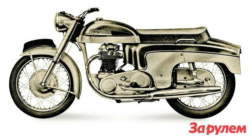 И такие спортивные мотоциклы, как этот 600-кубовый Norton Dominator 1960 года, выпускали в«люксовом» закрытом исполнении.