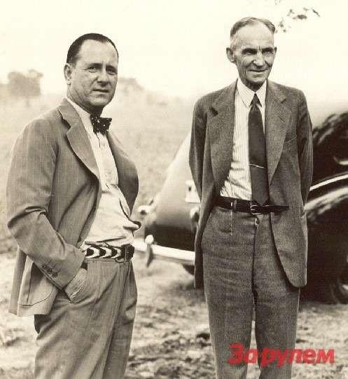 Генри Форд иГарри Беннет (слева), 1939год