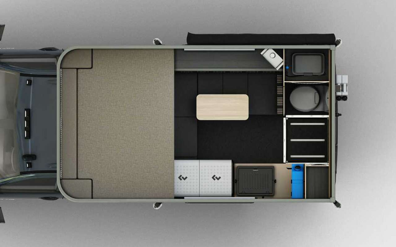 Кемпер-скворечник на базе пикапа: есть кровать и душ - фото 1161834