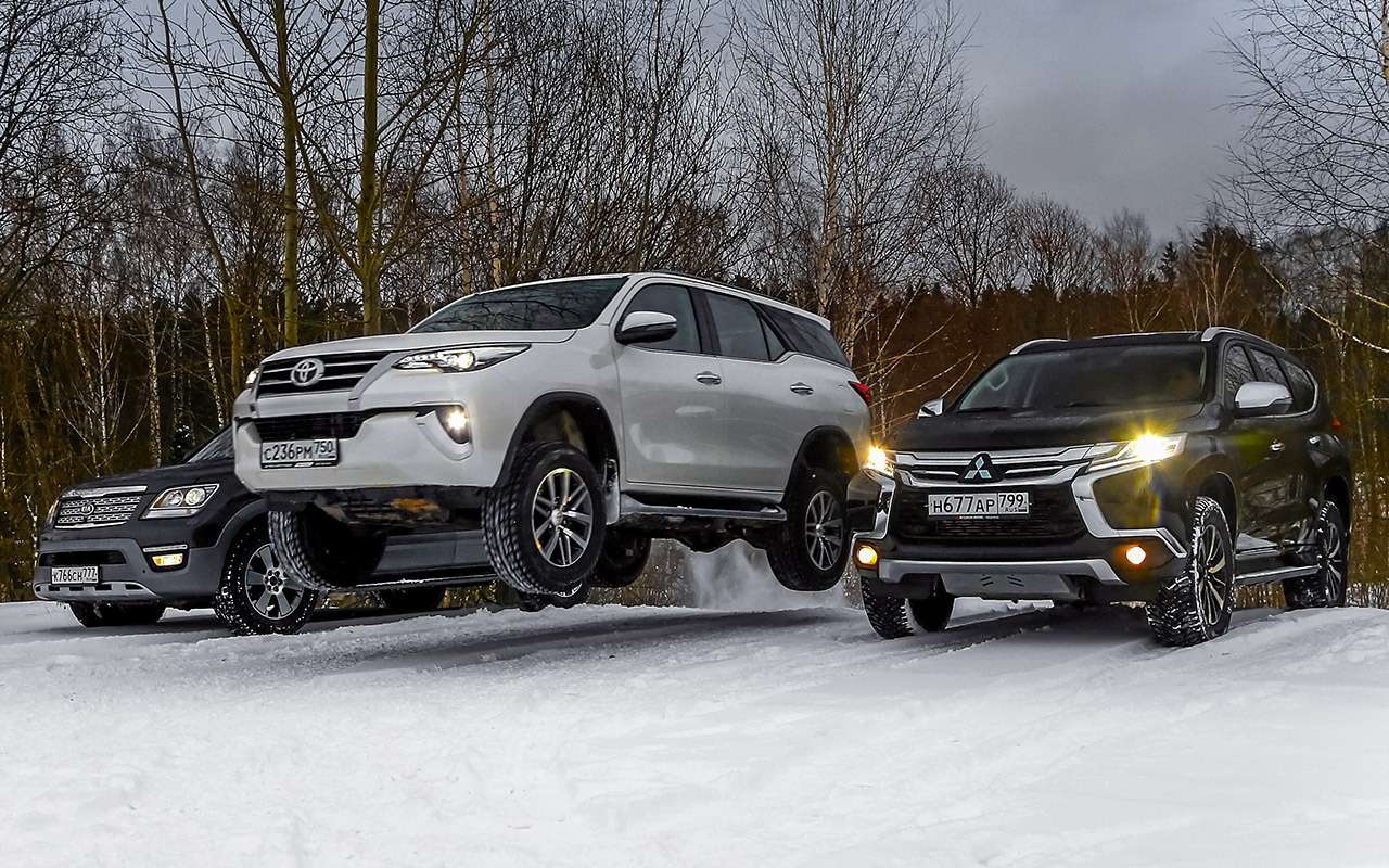 Toyota Fortuner, Mitsubishi Pajero Sport, Kia Mohave  — супертест — фото 855632