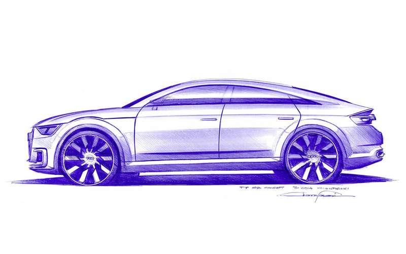 Следующее поколение купе Ауди TT вполне может стать 4-дверным
