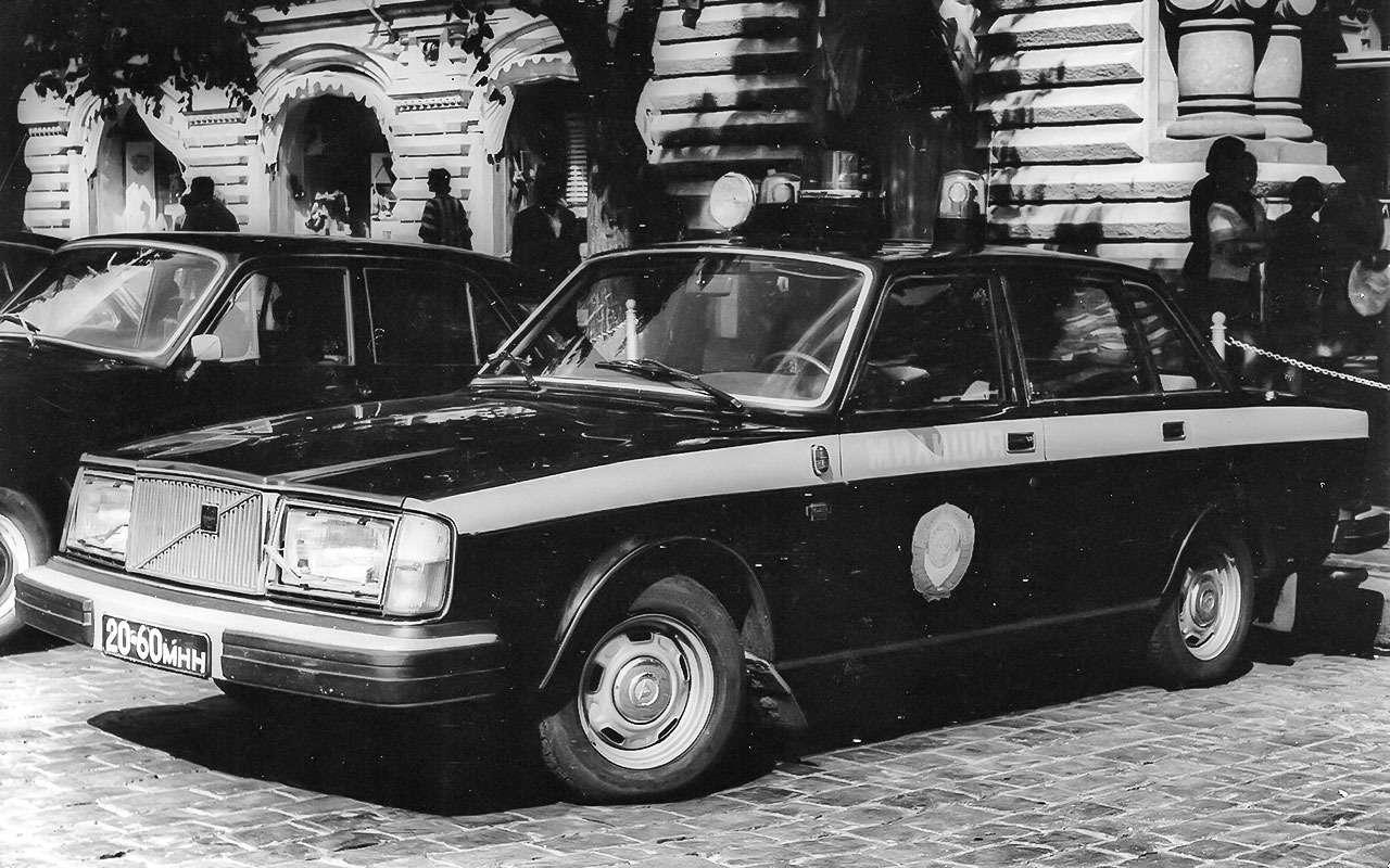 Милицейский Volvo 264в Москве.