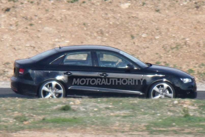 Audi A3sedan test prototype side view_no_copyright