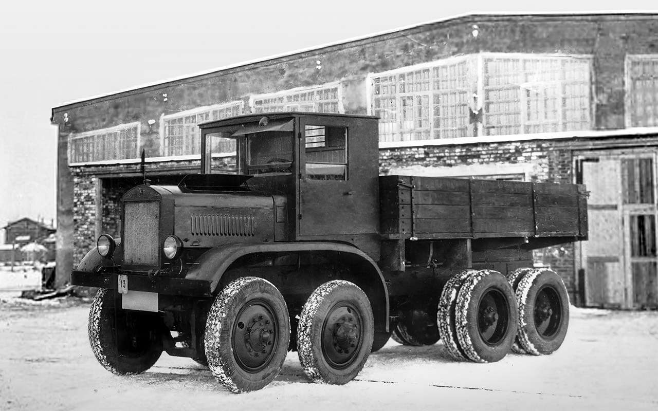 Уникальный четырехосный грузовик ЯГ‑12: символ мощи Советов— фото 1275727