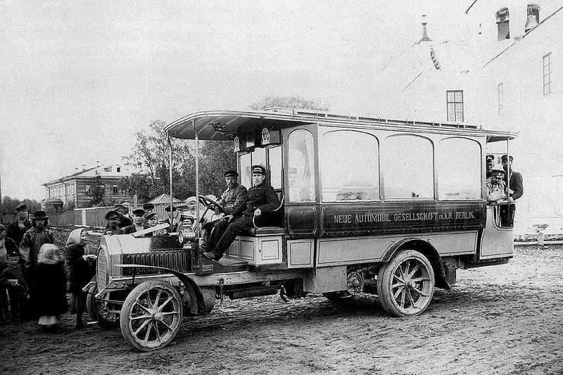 3 Bus in Arkhangelsk in 1907no copyright