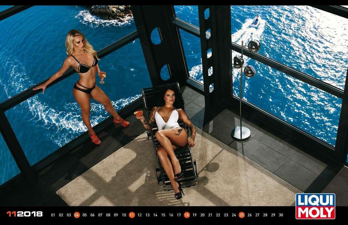 Девушки ипрокачанные тачки— календарь Liqui Moly на2018год— фото 806377