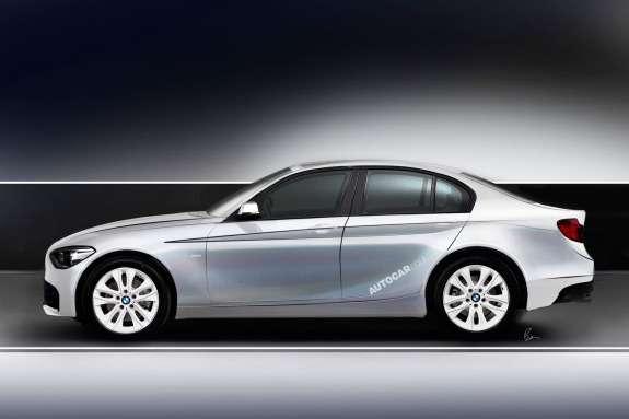 BMW1-Series saloon rendering byAutocar side view