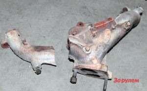 Трещины выпускного коллектора ипо- следующий разлом— типичная история  дляульяновских моторов до2010 года