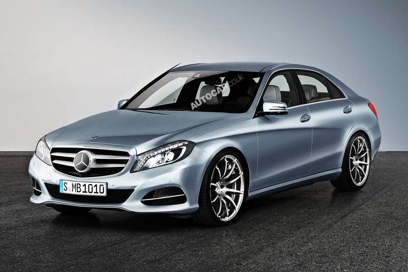 Next Mercedes-Benz C-class side-front view rendering byAutocar_no_copyright