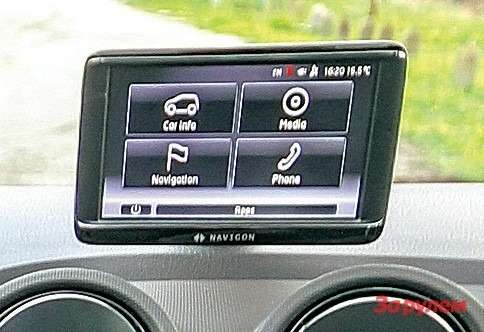 Насъемный 5-дюймовый тачскрин системы Seat Portable выводятся карты навигационной системы, показания бортового компьютера имультимедийная информация. Можно подключить телефон через «блютус».