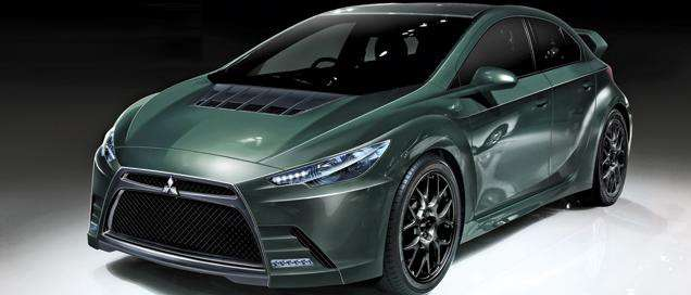 Rumored-Mitsubishi-Evo-XI-Hybrid-Front-Side-View