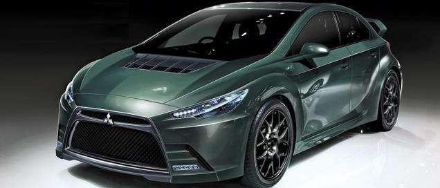 Rumored-Mitsubishi-Evo-XI-Hybrid-Front-Side-View