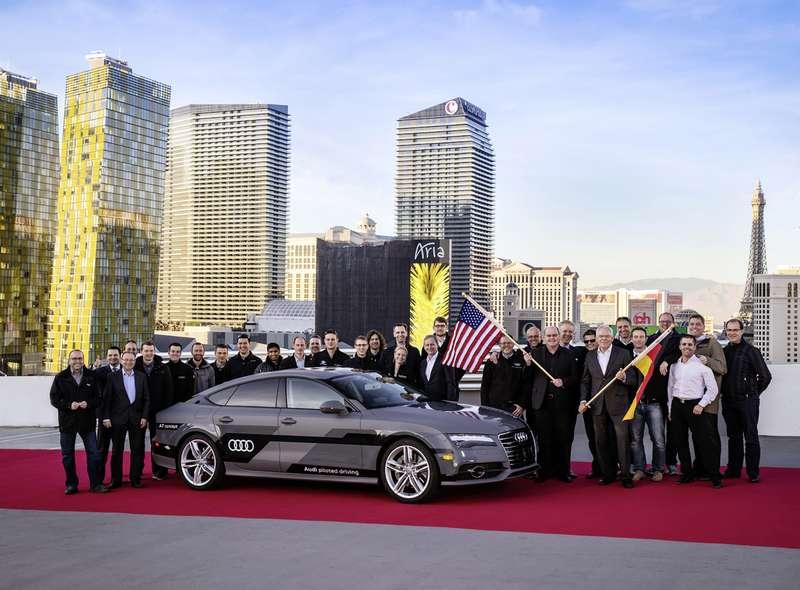 Audi A7Sportback piloted driving concept erfolgreich unter Alltagsbedingungen: Langstrecken-Test endet nach 560 Meilen inLas Vegas
