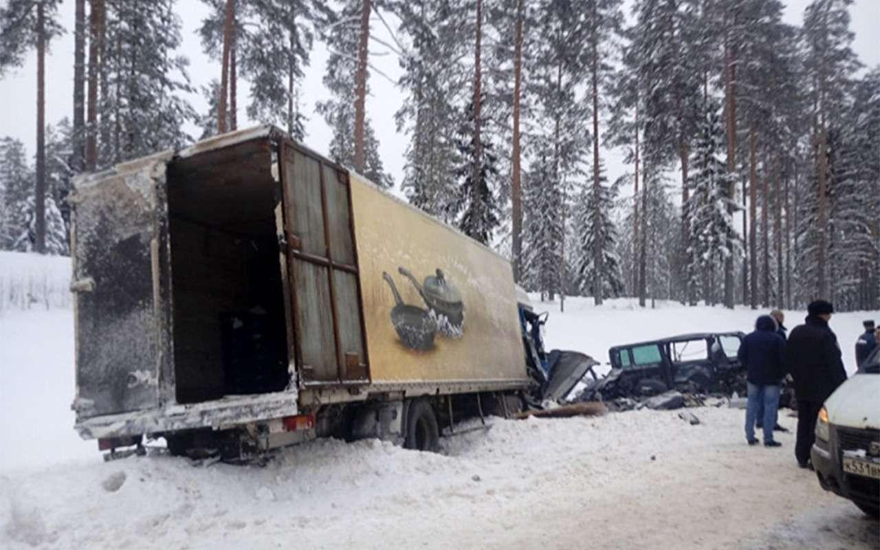 ВЛенобласти маршрутка навстречке столкнулась сгрузовиком. Погибли 9человек