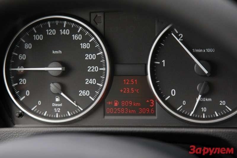 BMW320d EfficientDynamics instrument cluster