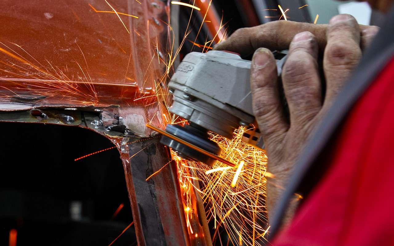 Бюджетный кузовной ремонт, или Как мывосстанавливали Калину после переворота— фото 901692