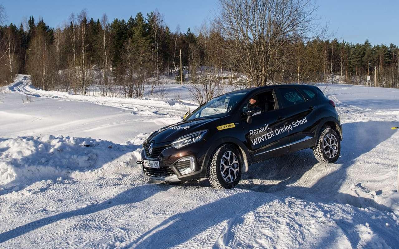 Карельский дрифт: кроссоверы Renault нальду Ладожского озера— фото 856379