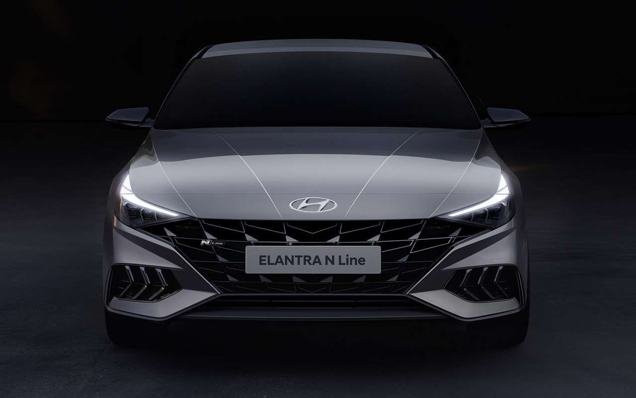 Hyundai показала свежие тизеры Elantra NLine— фото 1143834