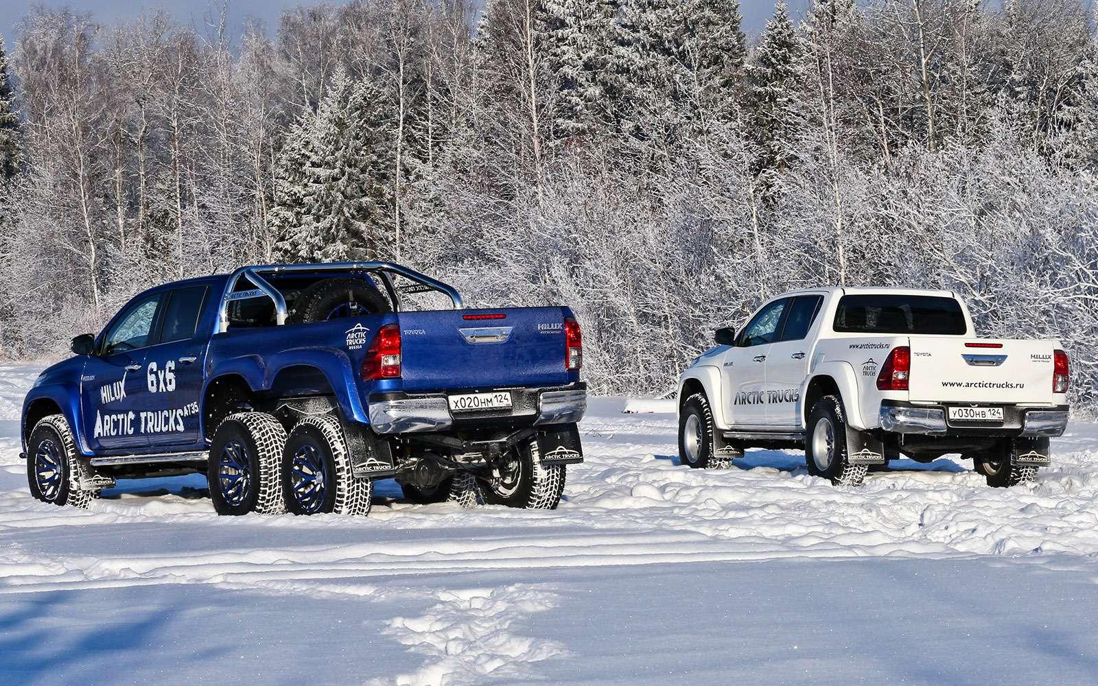Пикапы Toyota Hilux Arctic Trucks: 4х4или 6х6?— фото 745678
