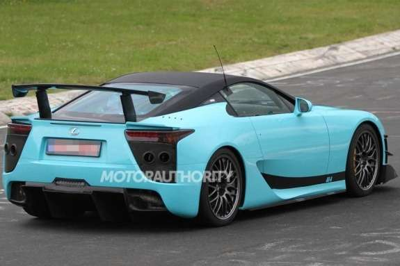 Lexus LFA final edition test prototype side-rear view