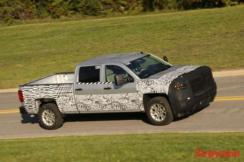 New Chevrolet Silverado test prototype side-front view