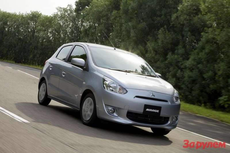 Mitsubishi Mirage side-front view
